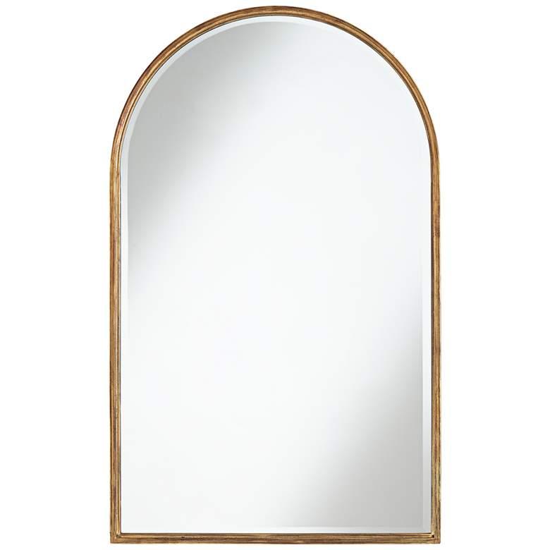 "Uttermost Clara Gold 24"" x 39"" Arch Top Wall Mirror"