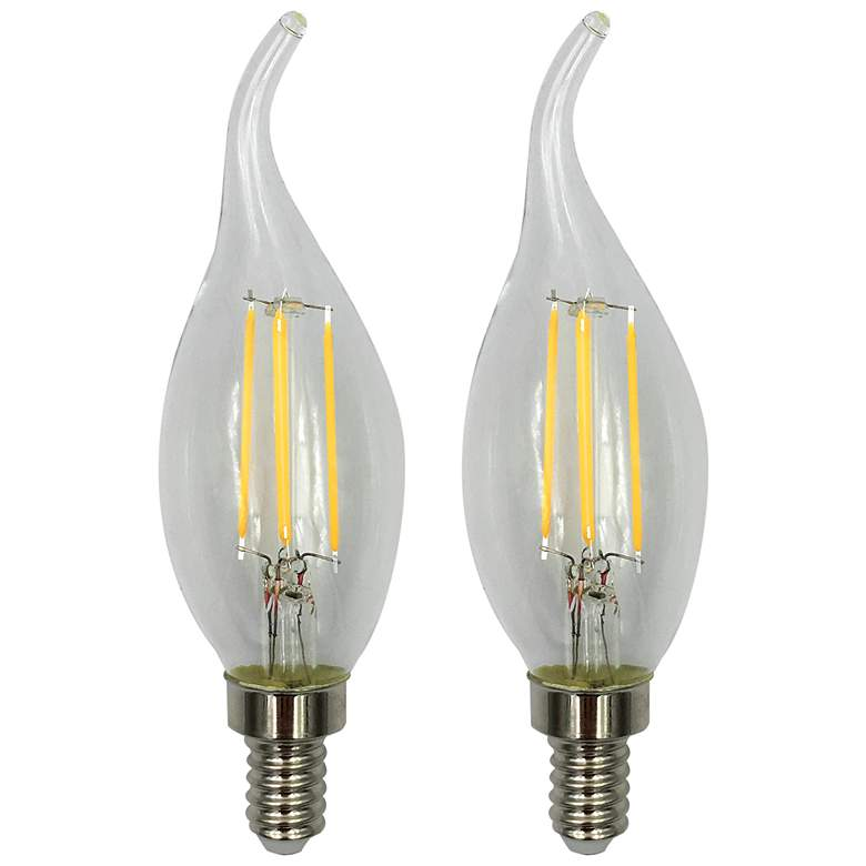 40W Equivalent Clear 5.5W LED Flame Tip Candelabra