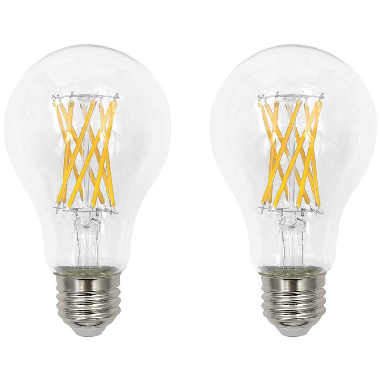 100W Equivalent Clear 12W LED Dimmable E26 Bulb Set of 2
