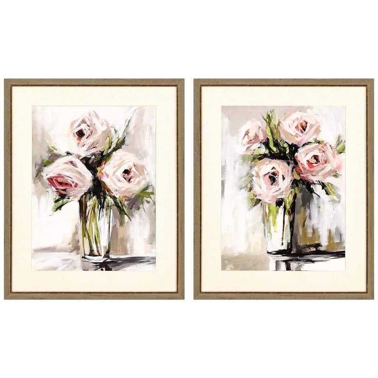 """Spring Bouquet 32"""" High 2-Piece Framed Giclee Wall Art Set"""