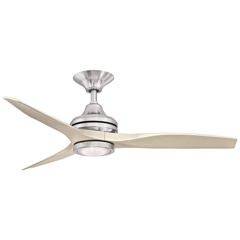 """48"""" Spitfire Brushed Nickel LED Damp Ceiling Fan"""