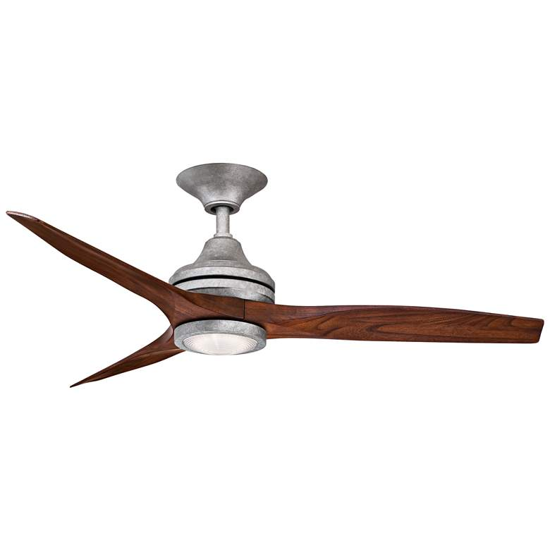 "48"" Spitfire Galvanized LED Damp Ceiling Fan"