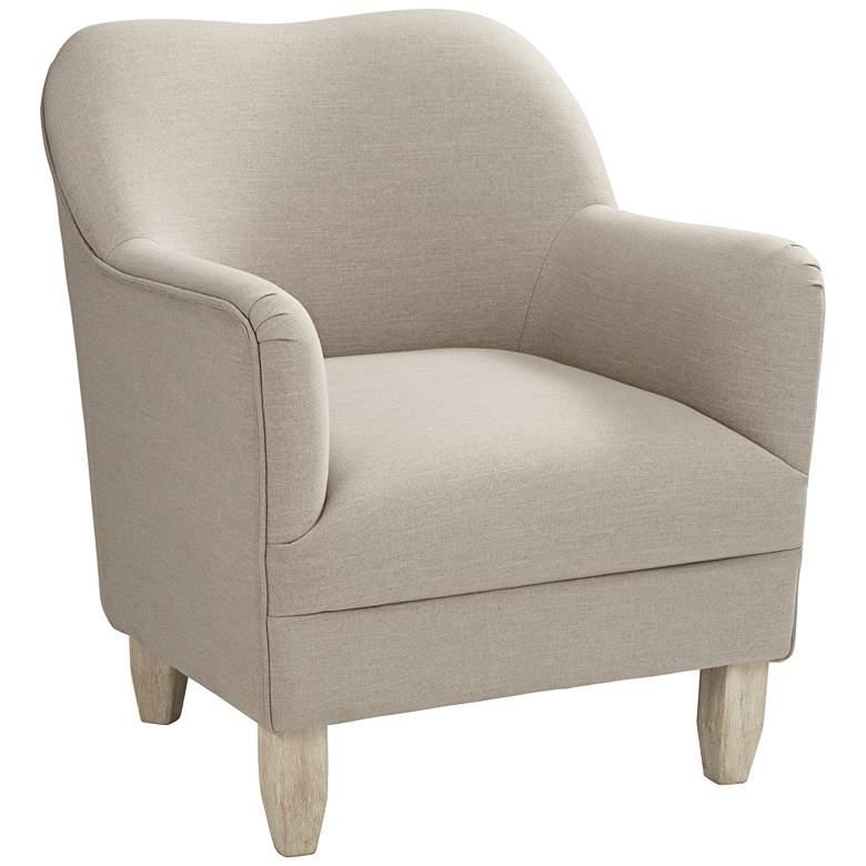 Mallow Beige Linen Accent Chair