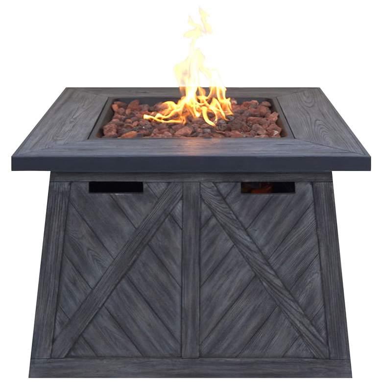 """Cedar Ridge 32"""" Wide Modern Gas Outdoor Fire Pit Table"""