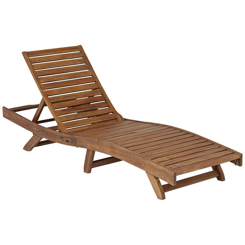 Gambo Natural Wood Adjustable Outdoor Lounger Chair