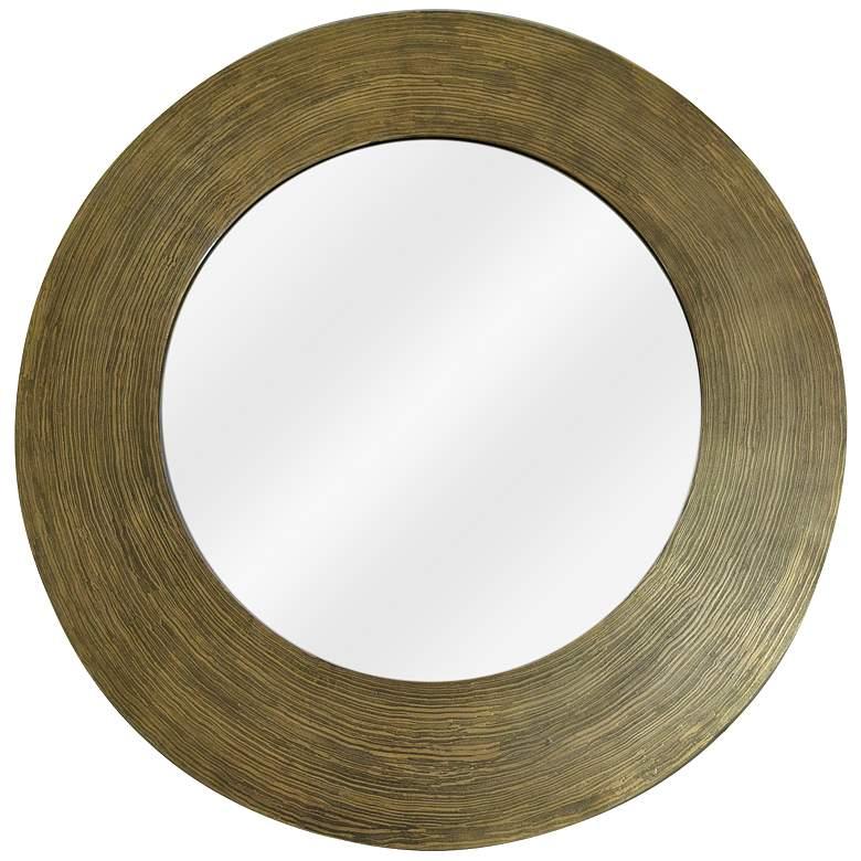 """Hutton I Textured Antique Brass 35"""" Round Wall"""