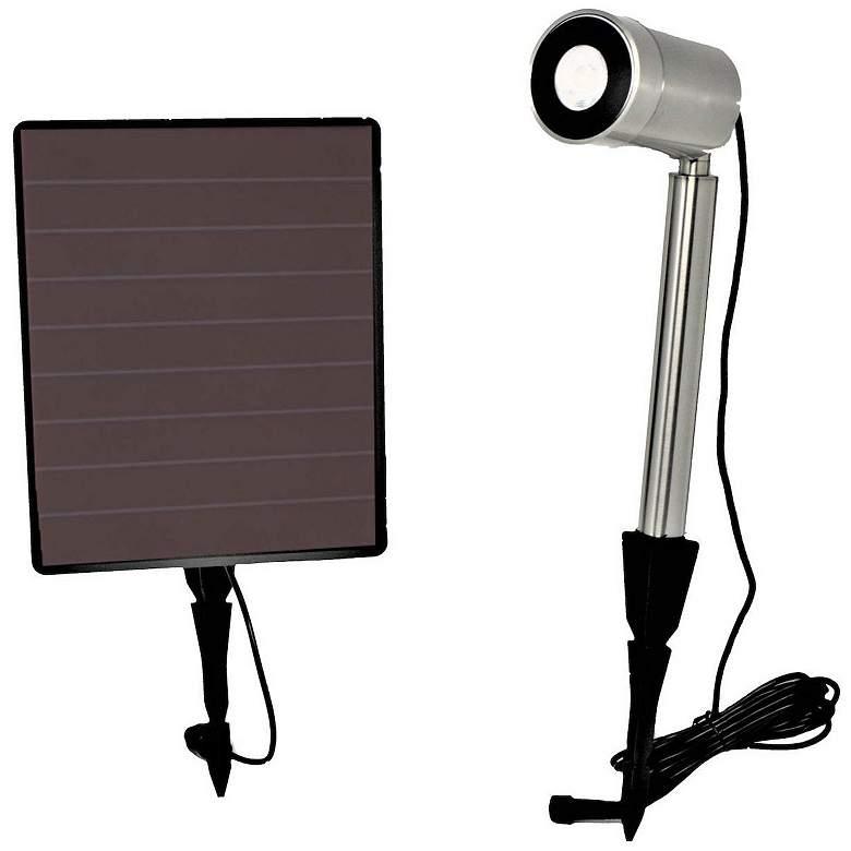 Tyson Stainless Steel Single-Light Solar LED Spot Light