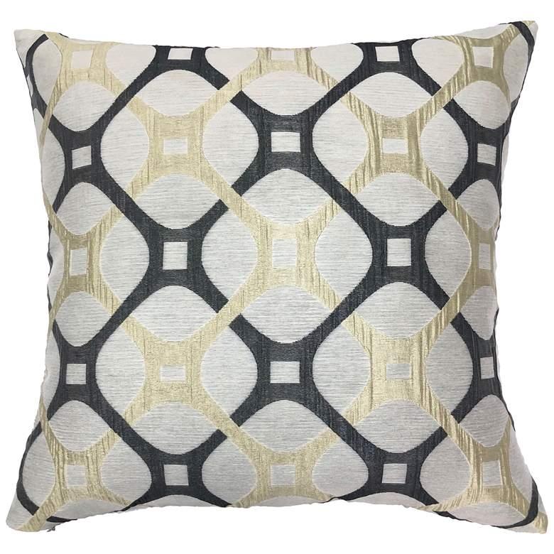 "Roxbury Charcoal 20"" Square Decorative Pillow"