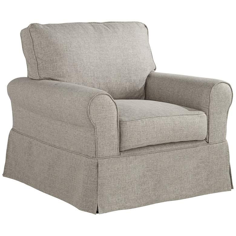 Carmen Classic Tan Slipcover Chair