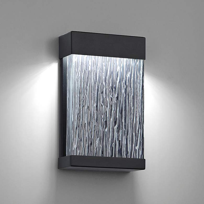 "Eurofase 11 1/2"" High Black LED Outdoor Wall"