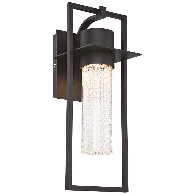 "Eurofase 19"" High Black LED Outdoor Wall Light"