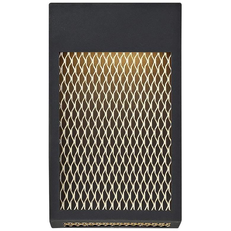 "Eurofase Coop 12"" High Sand Black LED Outdoor Wall Light"