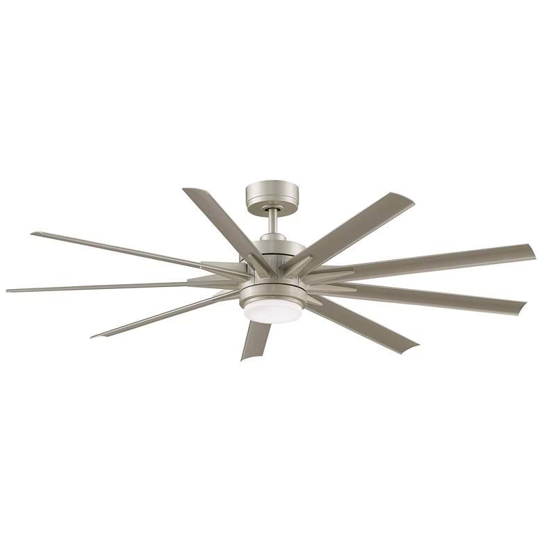 """64"""" Fanimation Odyn Custom Nickel LED Outdoor Ceiling Fan"""