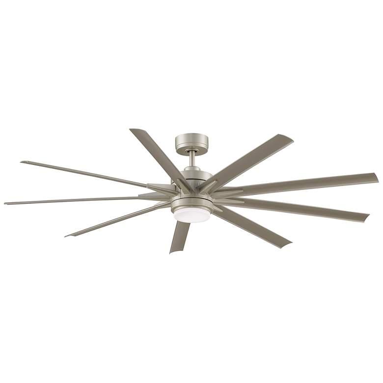 """72"""" Fanimation Odyn Custom Nickel LED Outdoor Ceiling Fan"""
