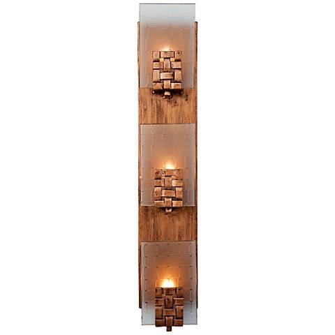 "Varaluz Dreamweaver 4 1/2"" Wide Copper Bath Light"