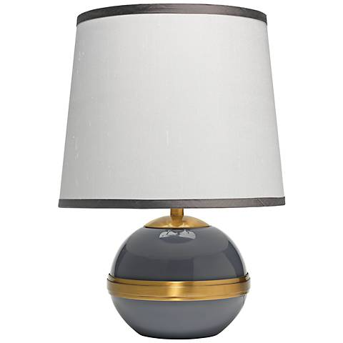 "Jamie Young 18""H Dove Gray Stockholm Accent Lamp"