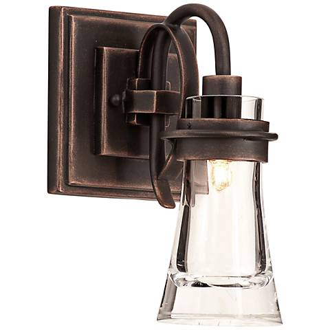 "Dover 10 1/2"" High Antique Copper Wall Sconce"