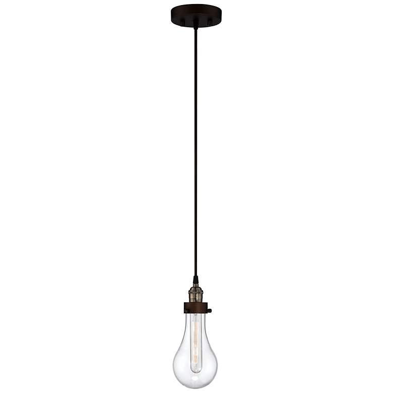 "Coleman Rust 10 3/4"" High Hanging Glass Globe Mini Pendant"