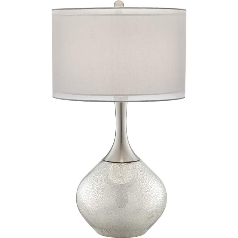Possini Euro Swift Modern Mercury Glass Table Lamp