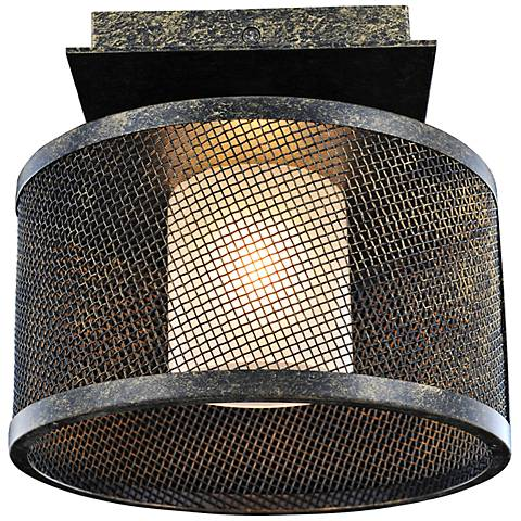 "Stanley 8 1/4"" Wide Volcano Bronze Ceiling Light"