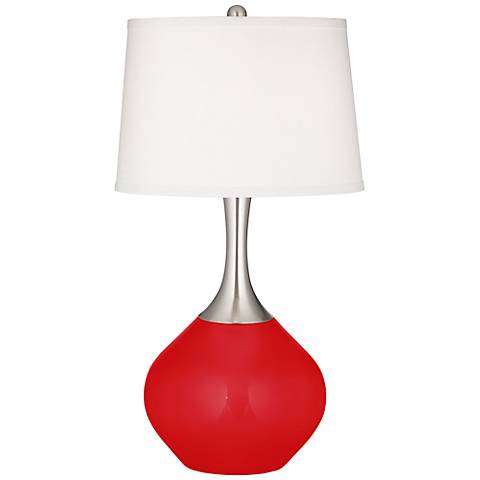 Bright Red Spencer Table Lamp