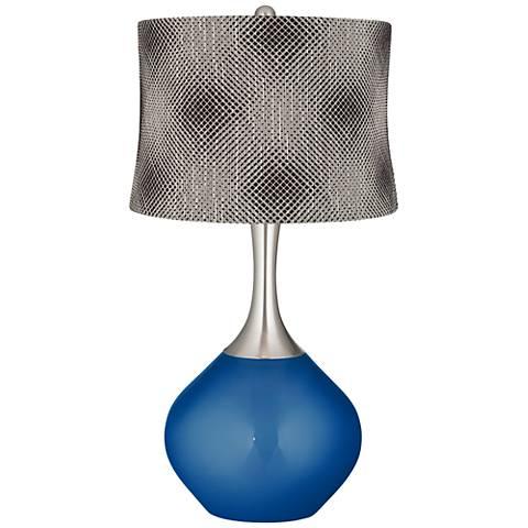 Ocean Metallic Black Pixels Shade Spencer Table Lamp