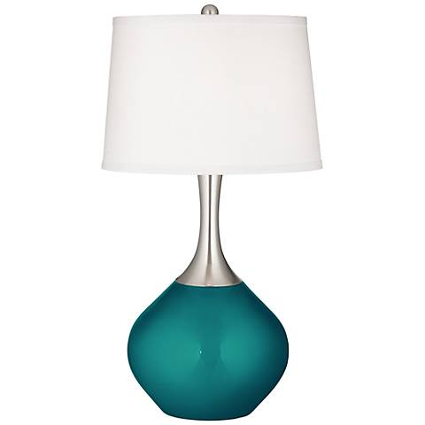 Magic Blue Metallic Spencer Table Lamp