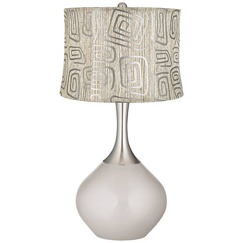Silver Lining Metallic Spiral Squiggles Shade Spencer Lamp