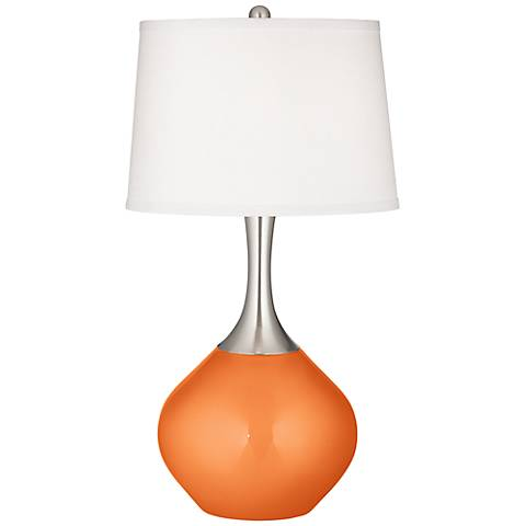 Burnt Orange Metallic Spencer Table Lamp