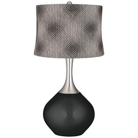 Caviar Metallic Black Pixels Shade Spencer Table Lamp