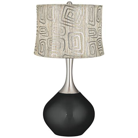 Caviar Metallic Spiral Squiggles Shade Spencer Table Lamp