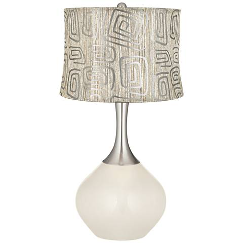 West Highland White Spiral Squiggles Shade Spencer Lamp
