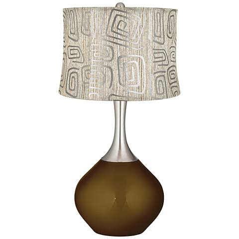 Bronze Metallic Spiral Squiggles Shade Spencer Table Lamp