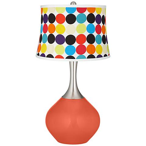 Daring Orange Multi Mod Circles Shade Spencer Table Lamp