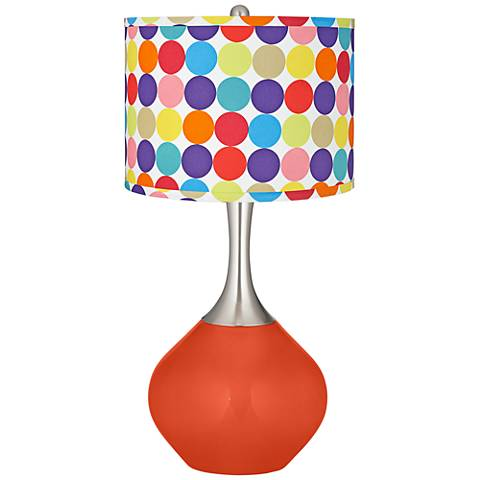 Daredevil Multi-Color Circles Shade Spencer Table Lamp