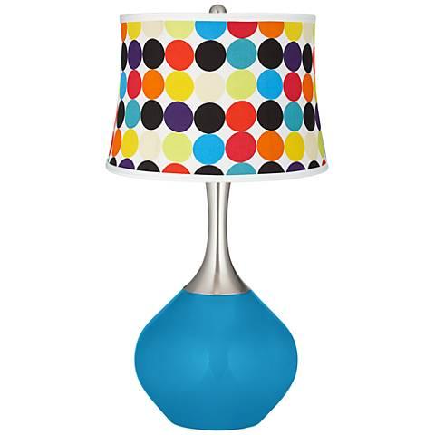 River Blue Multi Mod Circles Shade Spencer Table Lamp