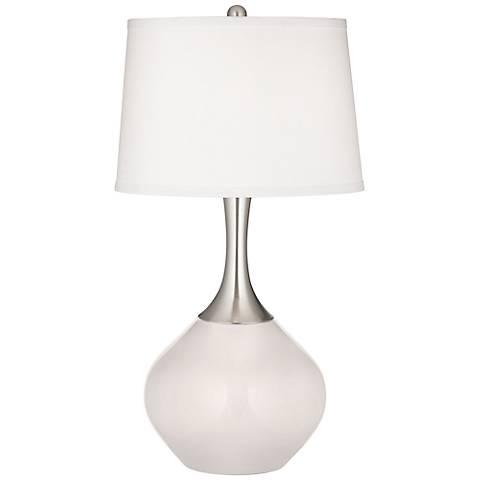Smart White Spencer Table Lamp