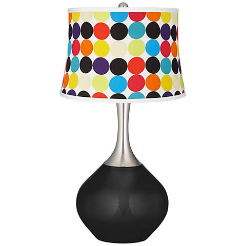 Tricorn Black Multi Mod Circles Shade Spencer Table Lamp