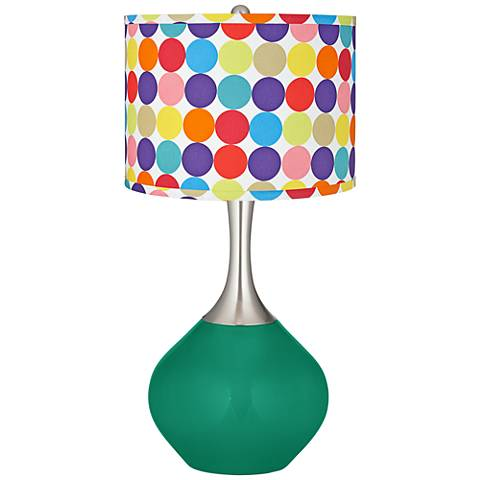Leaf Multi-Color Circles Shade Spencer Table Lamp