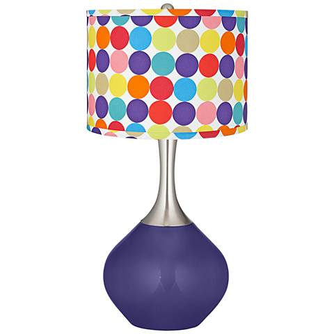 Valiant Violet Multi-Color Circles Shade Spencer Table Lamp