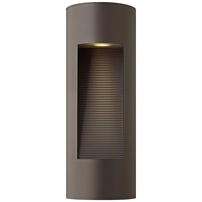 "Hinkley Luna 16"" High LED Bronze Outdoor Wall Light"