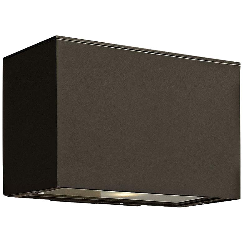 "Hinkley Atlantis LED 9"" High Bronze Outdoor Wall Light"