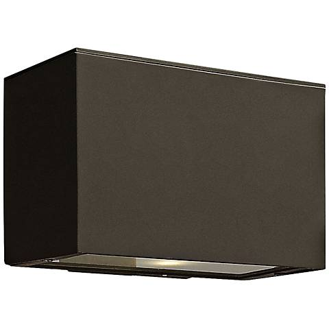 "Hinkley Atlantis LED 9"" High Bronze Outdoor Wall Light"