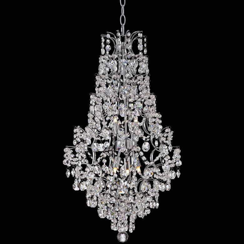"Marilyn 18 1/4"" Wide Chrome and Crystal Chandelier"