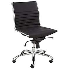 Kirk Low Back Armless Black Office Chair
