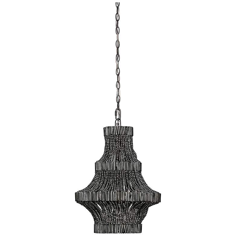 "Jamie Young Camellia 15""W Antique Silver Pendant Chandelier"