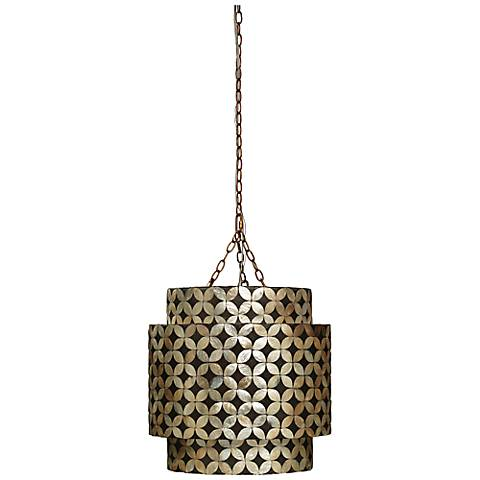 "Jamie Young Pacific 20""W Capiz Shell Pendant Chandelier"