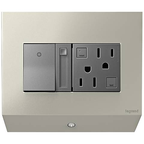 adorne® Control Box with Paddle Dimmer and Outlet