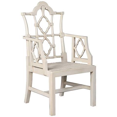 Lombardy White Mahogany Armchair