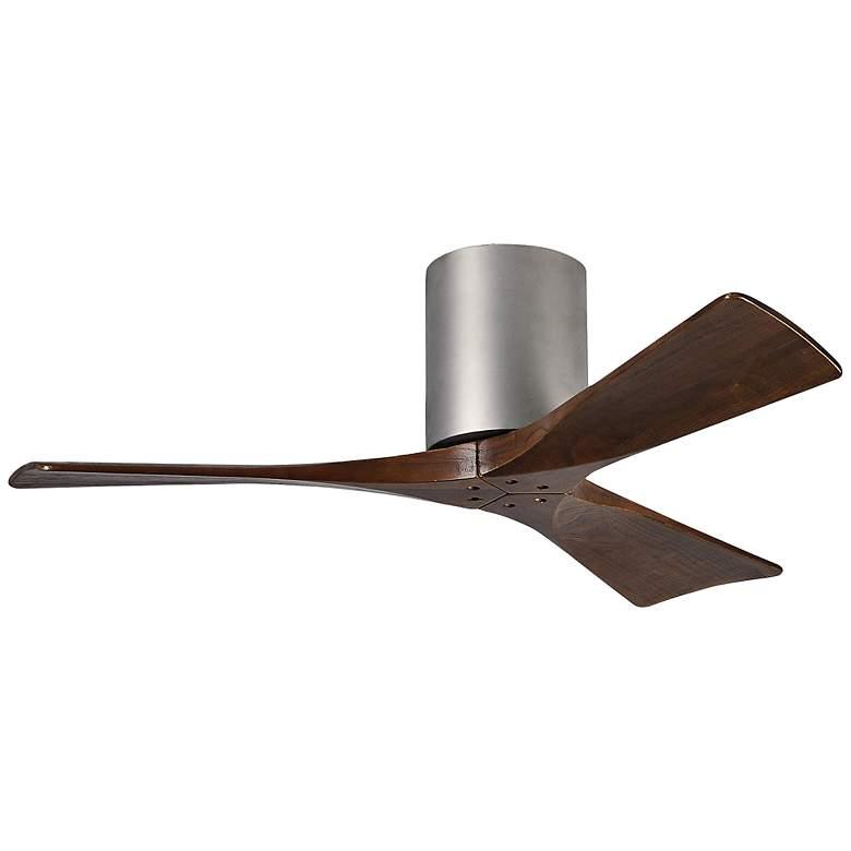 """42"""" Matthews Irene-3H Blade Walnut-Nickel Hugger Ceiling Fan"""